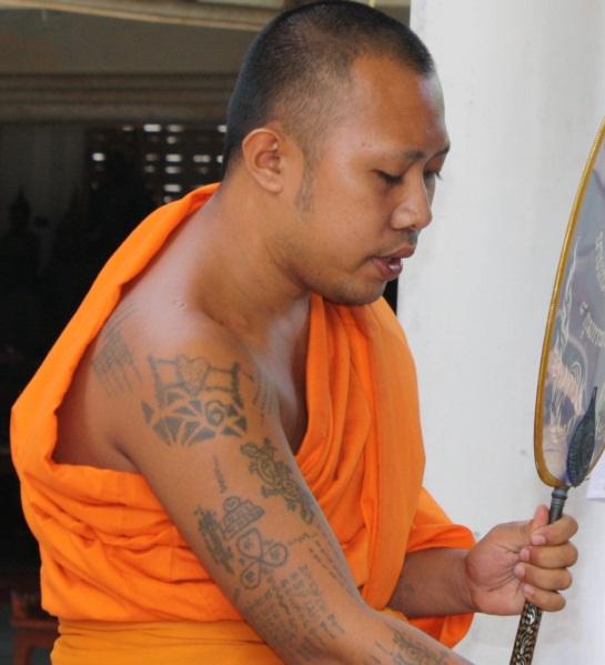 Tattooed Thai Buddhist Monk