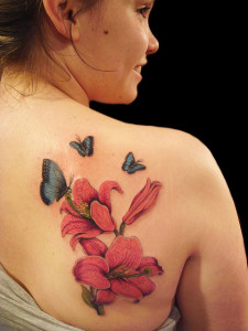 Butterflies-with-Lilies