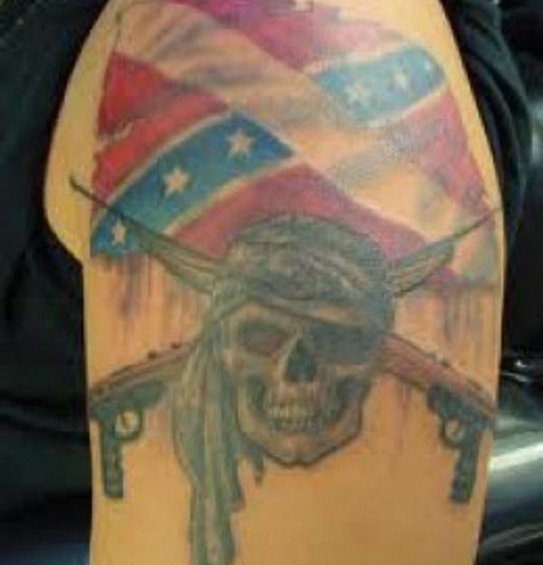 Confederate Flag Pirate Tattoo