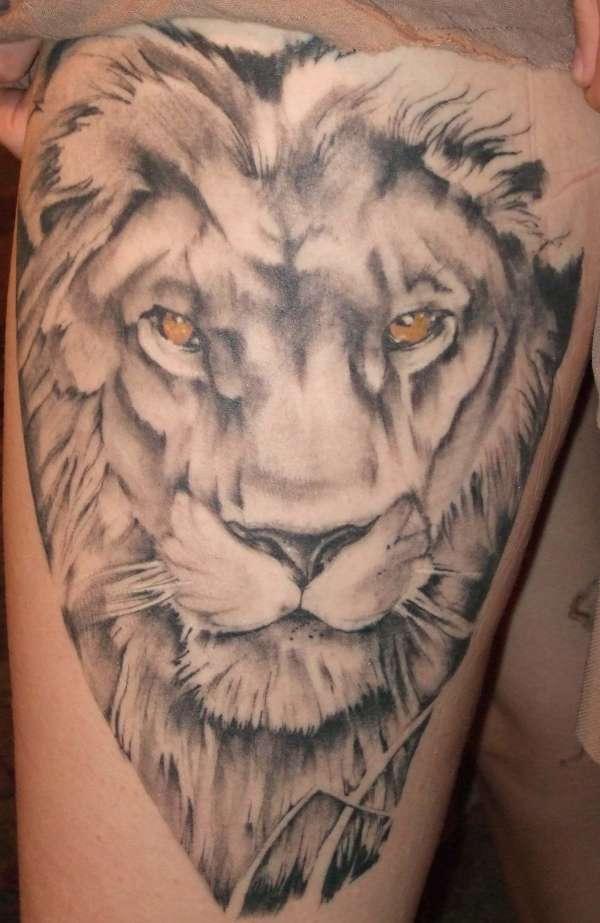 Cool Lion Tattoo Design