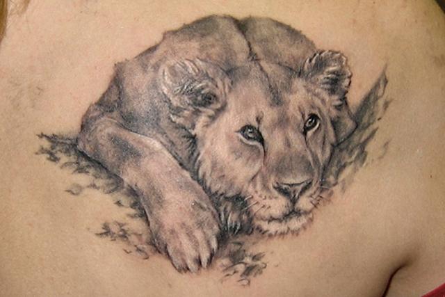Demon Lion Tattoo