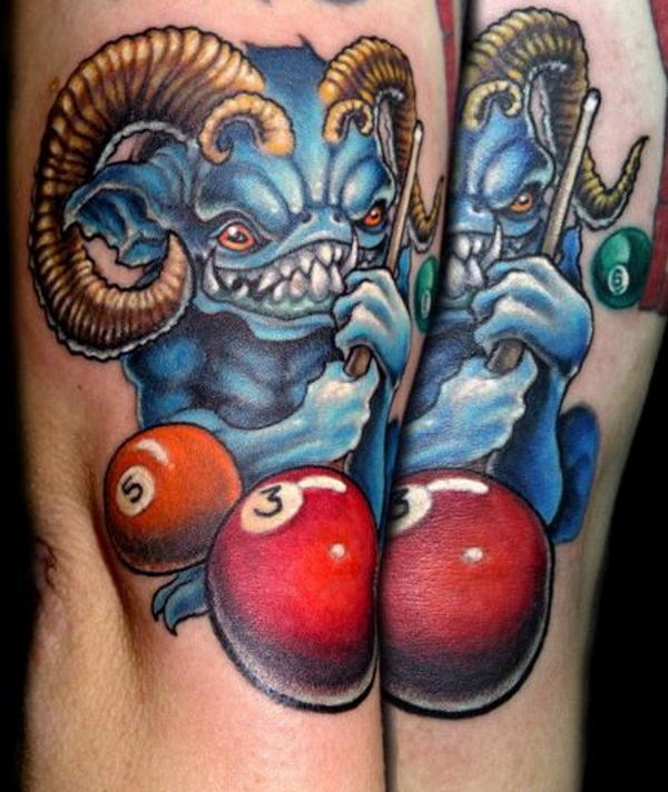 Demon Pool Tattoo Design Idea