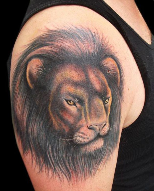 Lion Face Tattoo