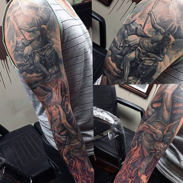 greek-tattoo-sleeve-for-males