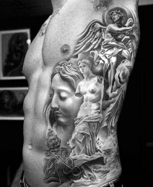 mens-greek-god-tattoos-designs-on-side-of-ribs