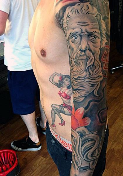 mens-greek-goddess-tattoo-sleeve