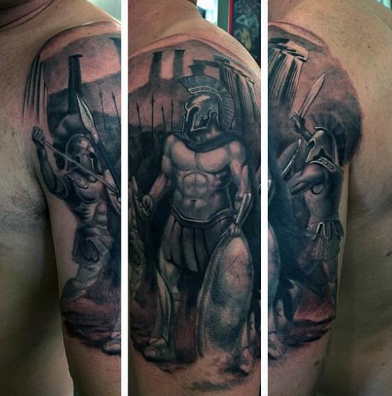 mens-greek-warrior-arm-tattoos