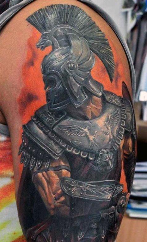 orange-greek-inspired-tattoos-for-men-on-arm
