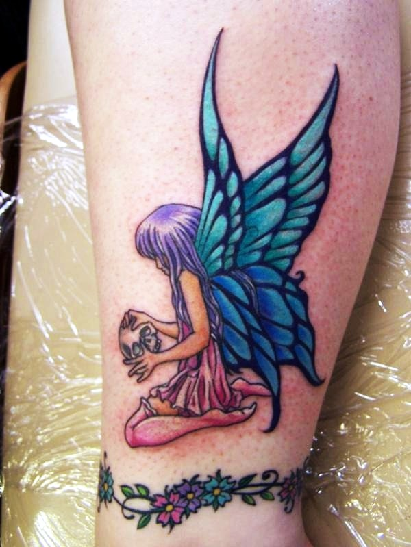 Adorable Fairy Tattoo Designs 13