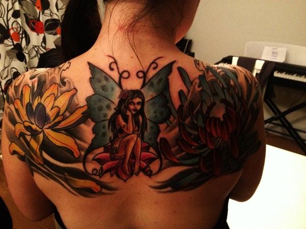 Adorable Fairy Tattoo Designs 25