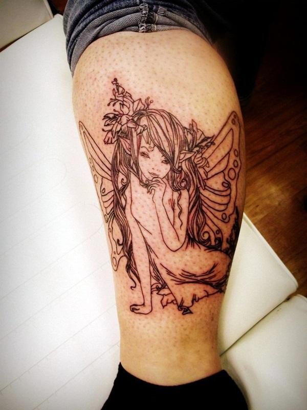 Adorable Fairy Tattoo Designs 4