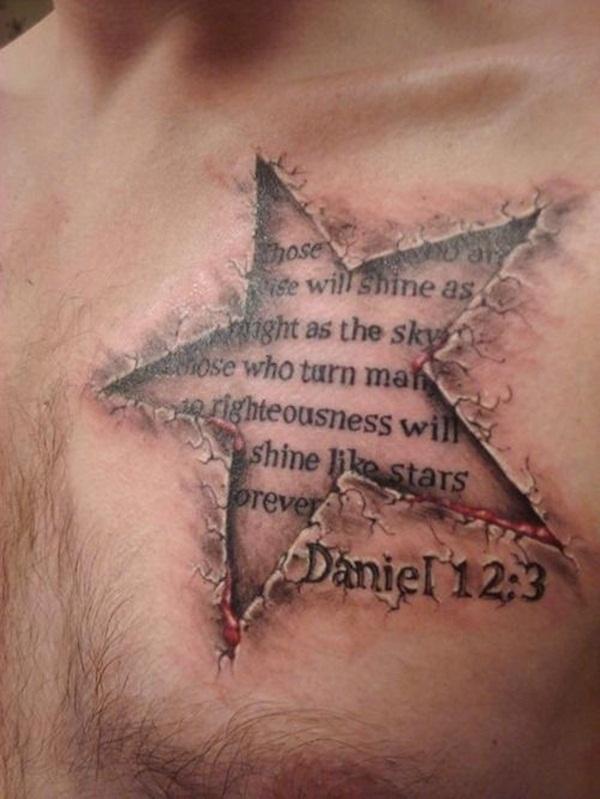 Chest Tattoo 14