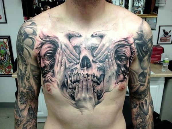 Chest Tattoo 7