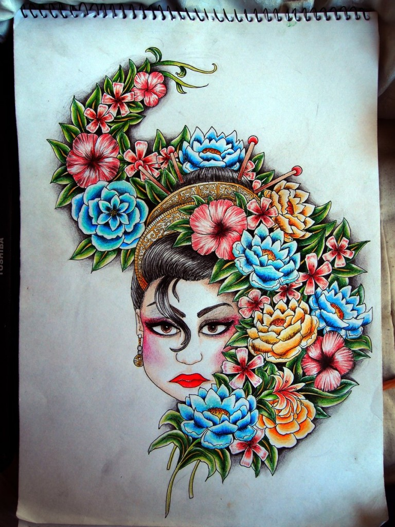 Colorful Tattoo Designs 38