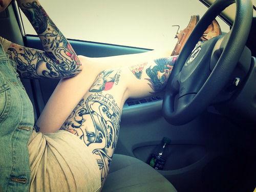 Insanely Hot Leg Sleeve Tattoos 11