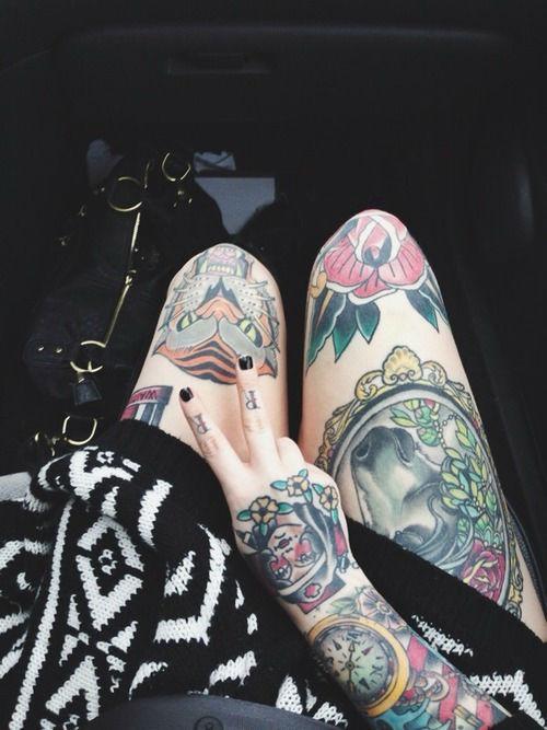 Insanely Hot Leg Sleeve Tattoos 12