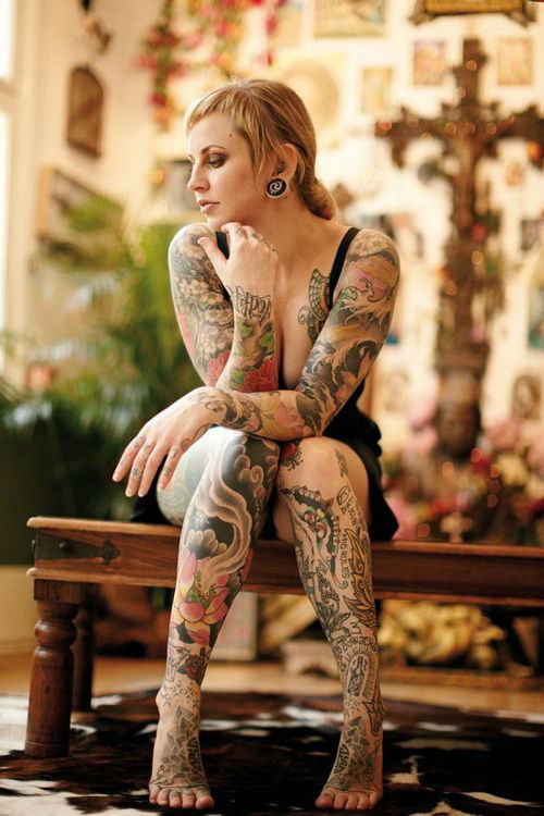 Insanely Hot Leg Sleeve Tattoos 14