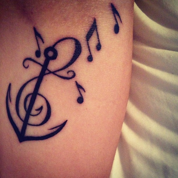 Music Tattoo Designs and Ideas 33
