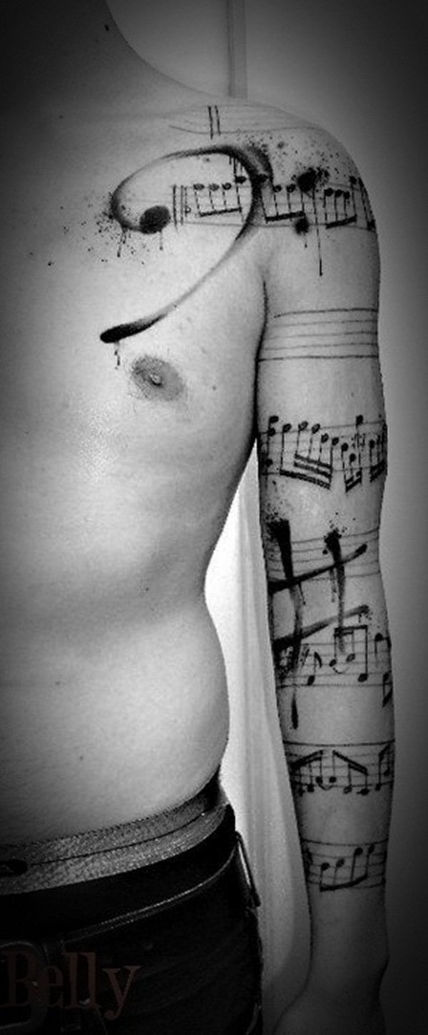 Music Tattoo Designs and Ideas 38