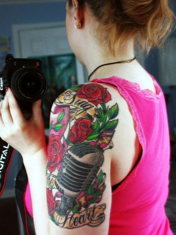 Music Tattoo Designs and Ideas 42