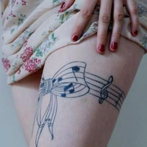 Music Tattoo Designs and Ideas 44