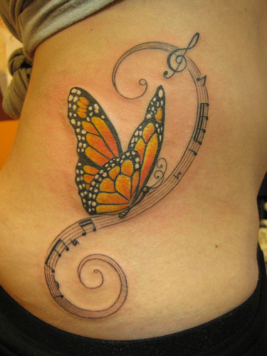 Music Tattoo Designs and Ideas 48