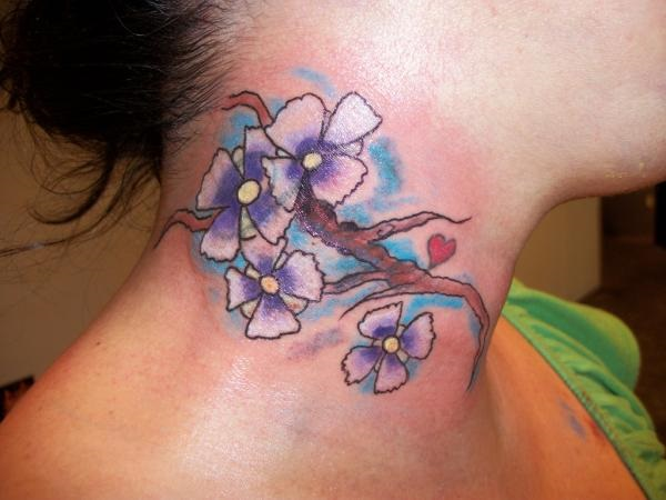 Neck Tattoo Designs For Male And Female 13