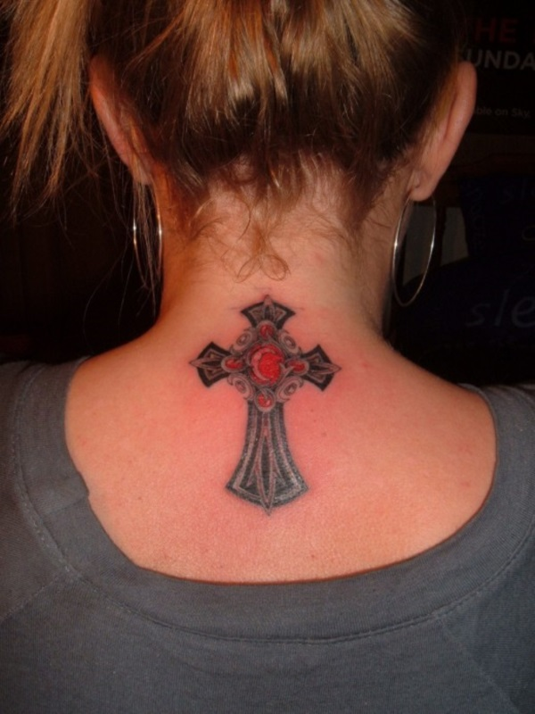 Neck Tattoo Designs For Male And Female 24