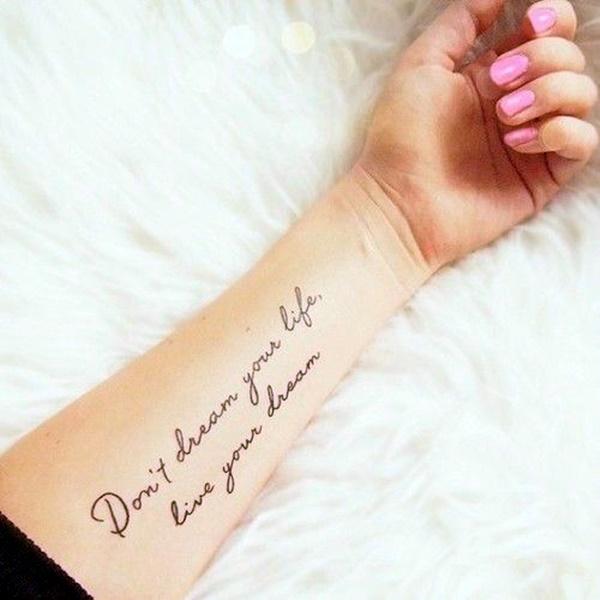 Stimulating Written Tattoos For Women 10