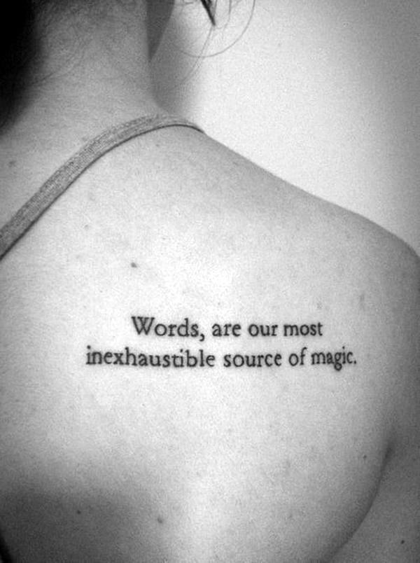 Stimulating Written Tattoos For Women 14