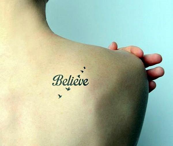 Stimulating Written Tattoos For Women 20
