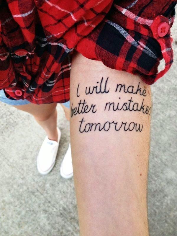 Stimulating Written Tattoos For Women 32