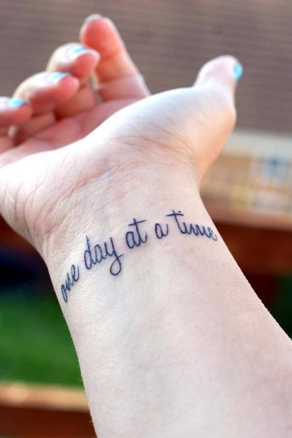 Stimulating Written Tattoos For Women 38