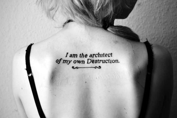Stimulating Written Tattoos For Women 8