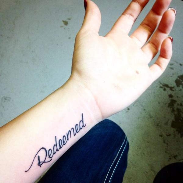 Stimulating Written Tattoos For Women