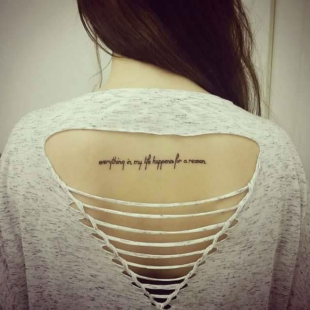 Upper Back Tattoos for Women 14