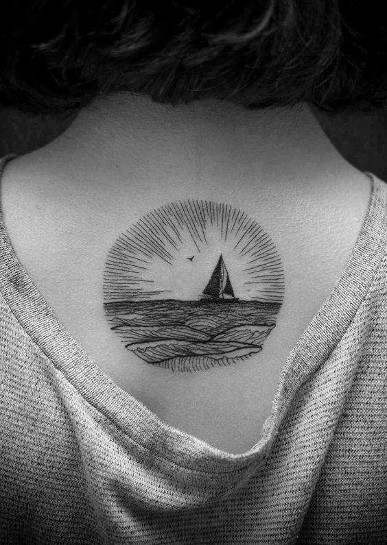 Upper Back Tattoos for Women 17