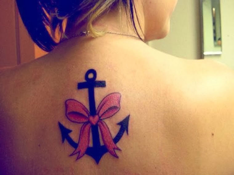 Upper Back Tattoos for Women 7