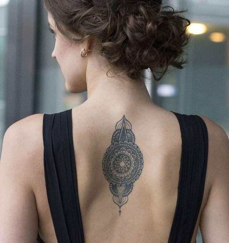 Upper Back Tattoos for Women 9