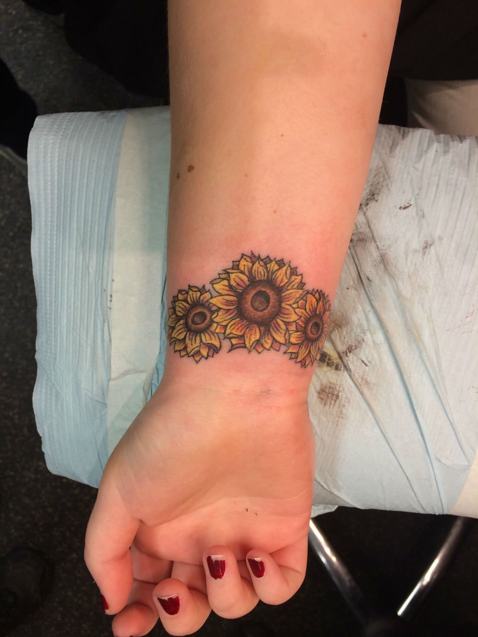 Warm Sunflower Tattoo Designs 3