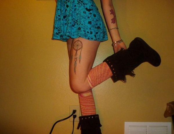 dreamcatcher tattoos for girl