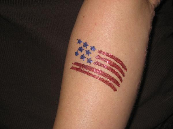 A Small American Flag Tattoo design, its look Awesome