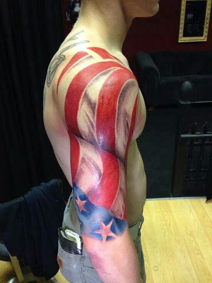 Attractive American Tattoo Design