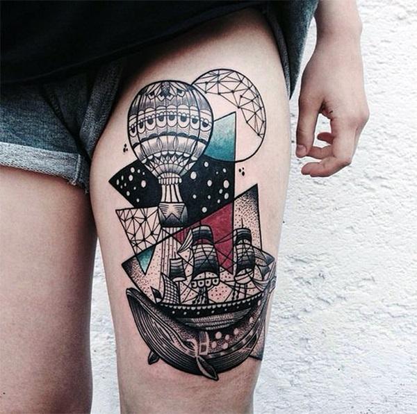Boat Tattoo Designs 46