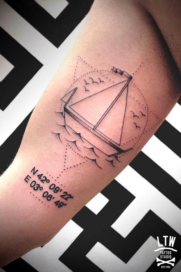 Boat Tattoo Designs 5