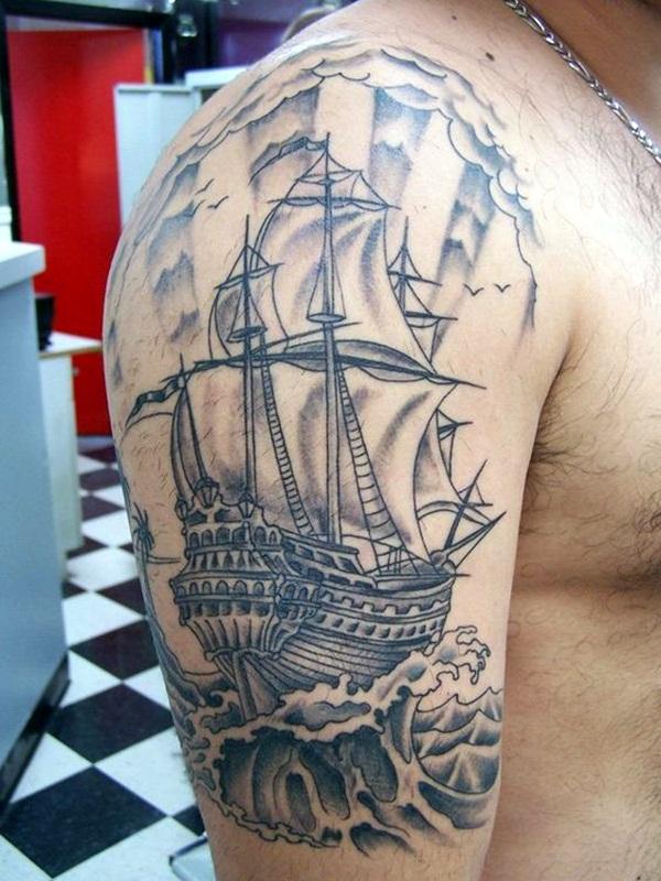 Boat Tattoo Designs 7