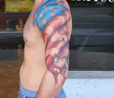 Full sleeve American tattoos for men arm