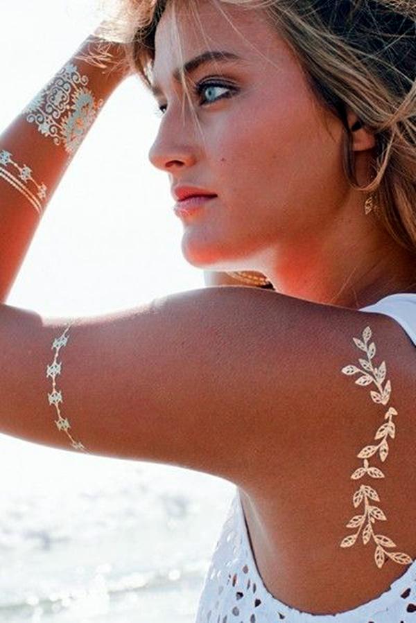 Genius Metallic Tattoos Design 16