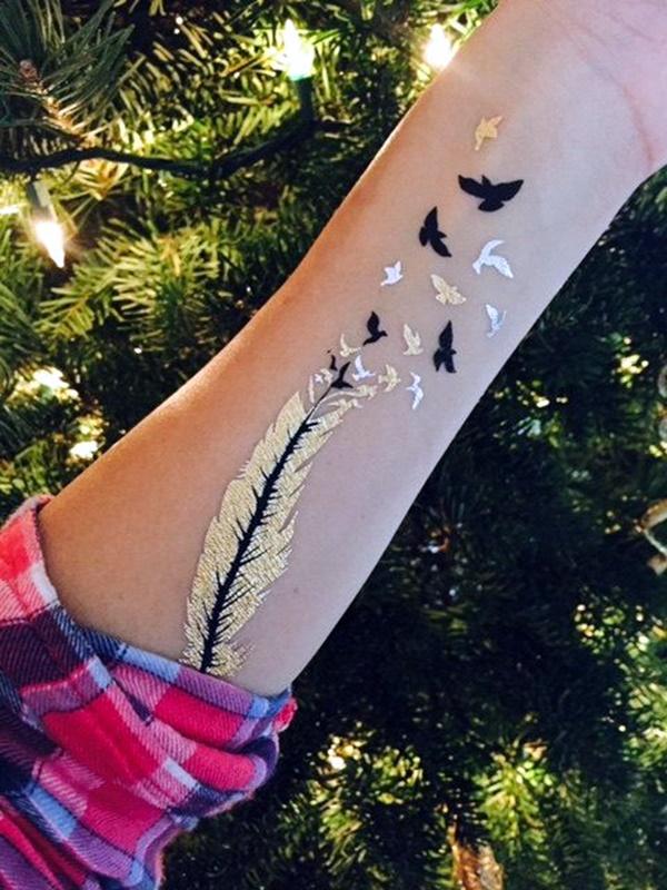Genius Metallic Tattoos Design 31