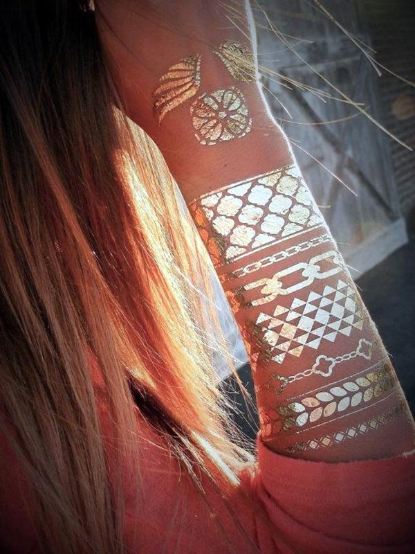 Genius Metallic Tattoos Design 36